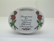 Oval with Rose Decor