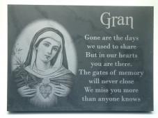 Slate Memorial Plaque (Religious)