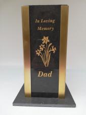 Memorial Personalised Flower Vase Black/Grey