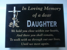 Granite Grave Plaque - Medium size