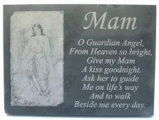 Slate Memorial Plaque (Angels)