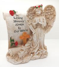 6124 Angel with Memorial Cross