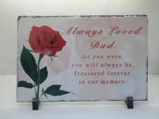 Rose Remembrance Slate Plaque