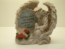 Angel Plaque with Lighting Cross ( Timer)