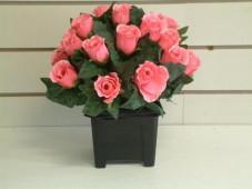 Grave pot - Roses in a Base