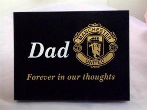Football Memorial Plaque