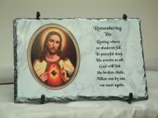 Saints Remembrance Slate Plaque